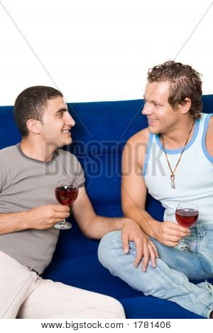 Gays Drinking Wine
