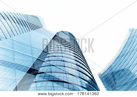 Abstract composite of office buildings, Multiple exposure image of office buildings background