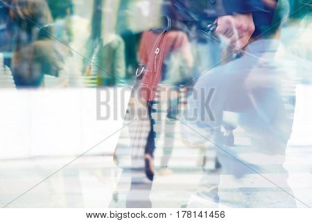 Business concept, Multiple exposure image of businessman