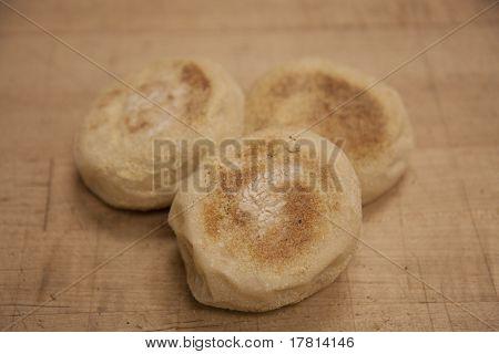 Three English Muffins