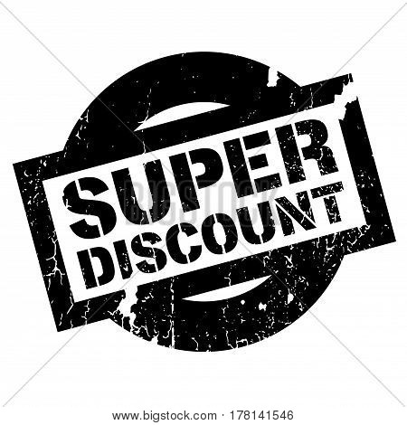 Super Discount rubber stamp. Grunge design with dust scratches. Effects can be easily removed for a clean, crisp look. Color is easily changed.