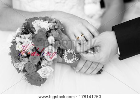 The Wedding Ring on Her finder wedding background
