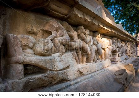 Sculptures Depicting People Having Sex On The Walls Of Ancient Temples Of Kama Sutra In India Kajura