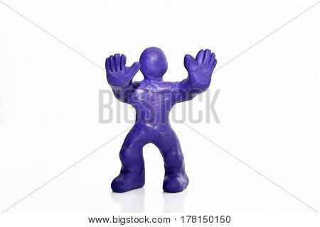 Man Figure Made From Plasticine.
