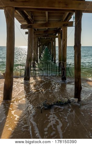 Underneath The Wooden Pier.