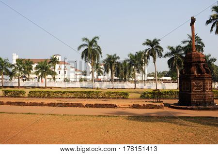 Goa, India - 8 January 2015: Convent Church of St Francis of Assiisi and Se Cathedral in Old Goa Goa India