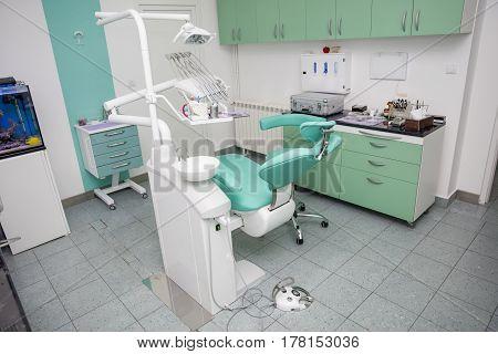 Interior Of A New Modern Dental Office