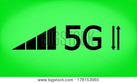 5g mode technology. Data transfer. Mobile Internet