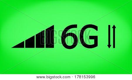 6g mode technology. Data transfer. Mobile Internet