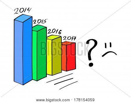 business crisis - graph down vector eps10