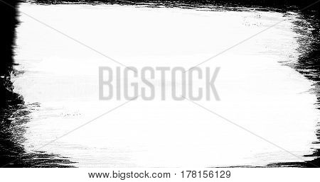 abstract paint brush stroke black and white transition background illustration of paint splash with alpha channel