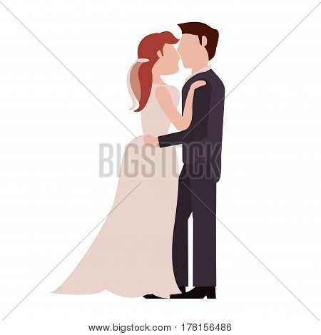 couple embrace just married vector illustration ep 10