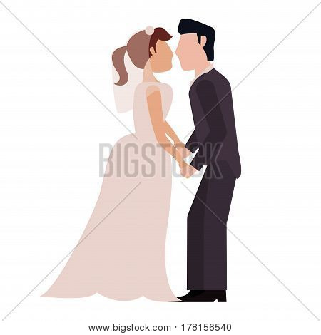 couple married together lovely vector illustration eps 10