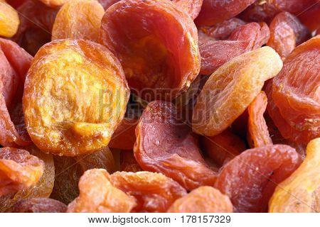 Dried fresh apricot harvested fruit tree as part of a healthy meal