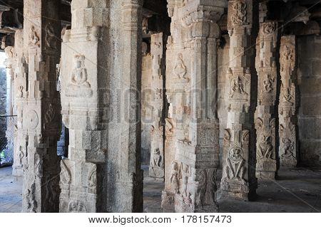 Detail Of Shiva-virupaksha Temple At Hampi, India
