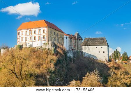 Ozalj Castle in the town of Ozalj, Croatia