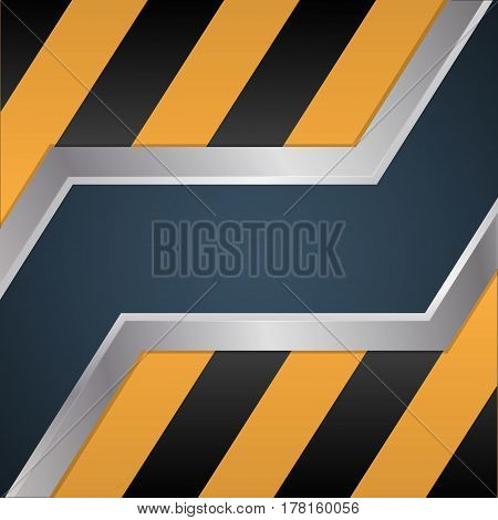 Sliding metal doors. Technique and mechanics. Fantastic background. Vector illustration.