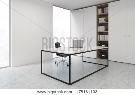 Ceo Office With A Laptop, Side