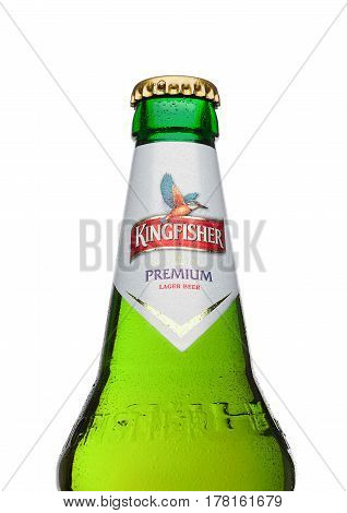 London,uk - March 23, 2017 : Bottle Of Kingfisher Beer On White. Kingfisher Is The Number One Beer O