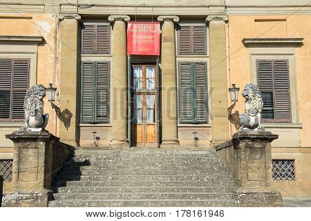 FLORENCE, ITALY - February 16, 2017: costume museum ( Galleria del Costume ), Palazzo Pitti at the Boboli Gardens, Florence, Italy