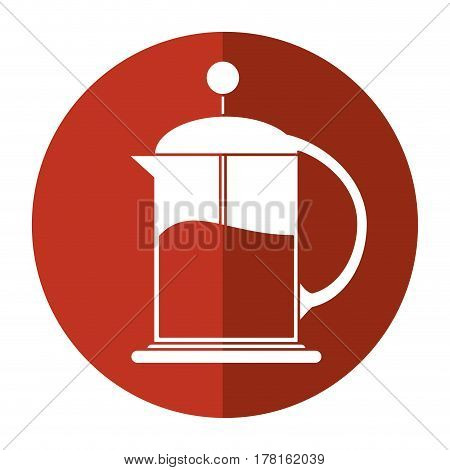 french press coffee maker shadow vector illustration eps 10