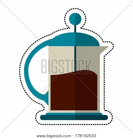 cartoon french press coffee maker vector illustration eps 10