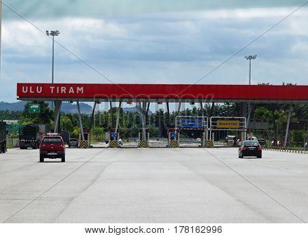 JOHOR MALAYSIA ASIA -  NOVEMBER 20:  Senai-Desaru Expressway (SDE) the main connector from the east to the west of Johor November 20, 2014 in  Johor Darul Takzim Malaysia