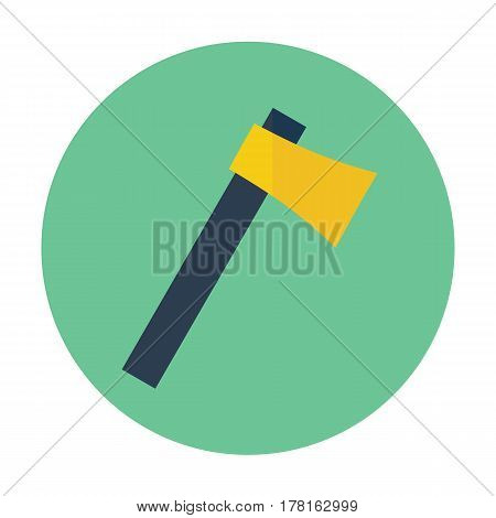 axe flat icon, minimalistic flat design for web, mobile logo and identity
