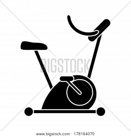 silhouette bicycle static exercise training vector illustration eps 10