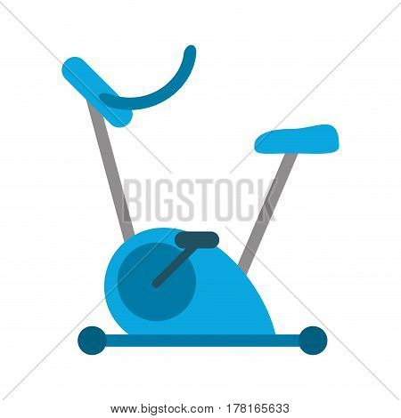 bicycle static exercise training vector illustration eps 10