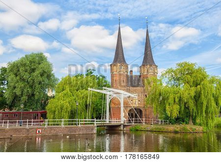 The Eastern Gate (Oostpoort) in Delft an example of Brick Gothic northern European architecture Netherlands