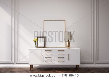 Cabinet In A Dark Room