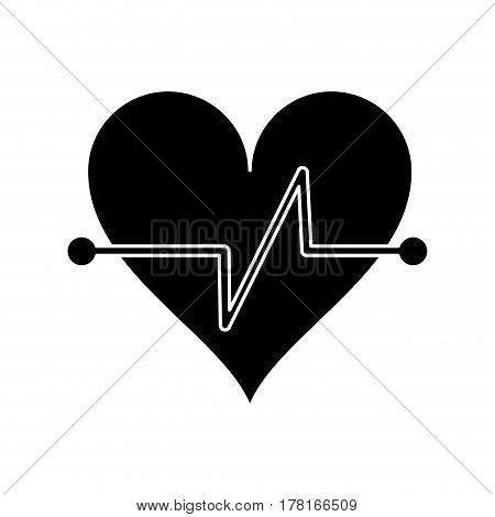heart beat fitness symbol pictogram vector illustration eps 10
