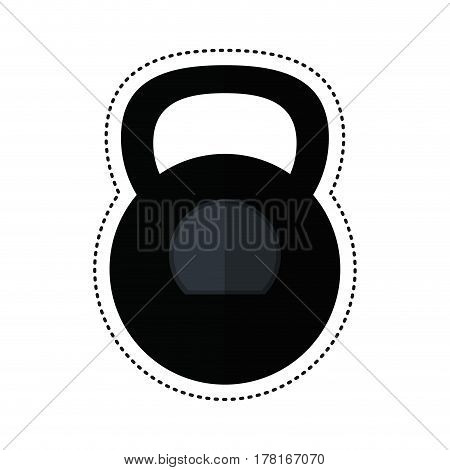 cartoon kettlebell weight gym fitness vector illustration eps 10