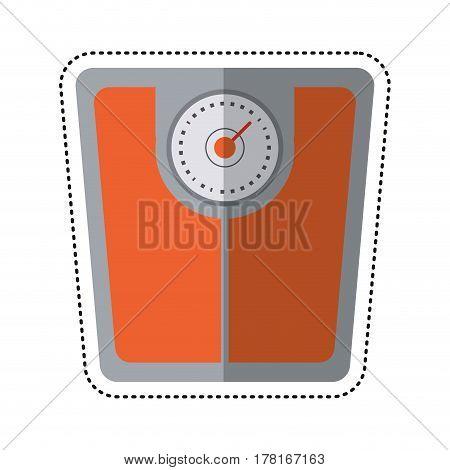 cartoon weight scale bathroom image vector illustration eps 10