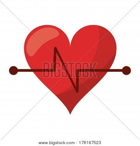 heart beat fitness symbol vector illustration eps 10