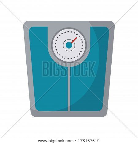 weight scale bathroom image vector illustration eps 10