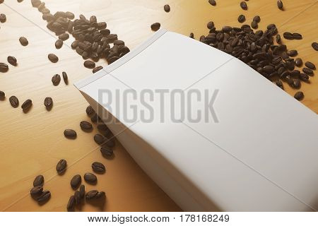 White Coffee Package Closeup