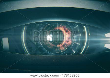 Squinted Cyber Eye