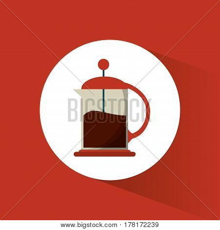 french press coffee glass vector illustration eps 10