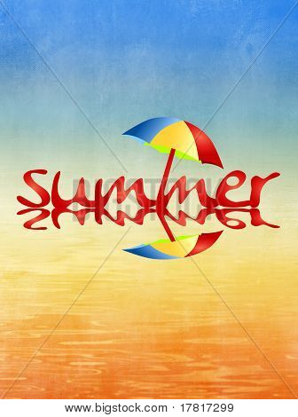 Beach and summer background