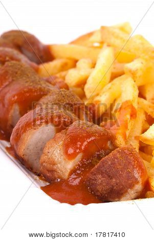 Curried Sausage And Chips