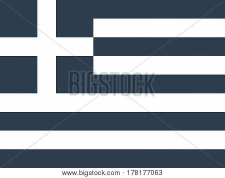 flag of Greece Official symbol of the state vector illustration