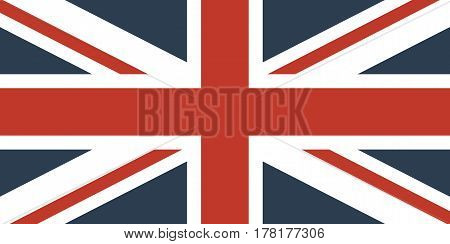 Flag Of The Great Britain Official symbol of the state vector illustration