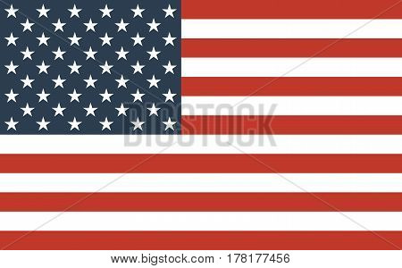 American Flag Official symbol of the state vector illustration