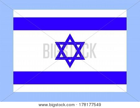 Official Israel flag Official symbol of the state vector illustration