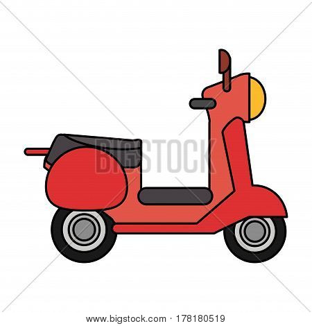 red scooter transport vehicle image vector illustration eps 10