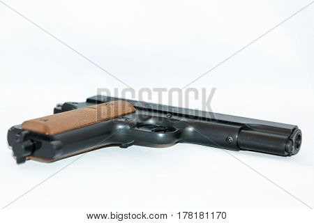 Pistol With Wooden Handle