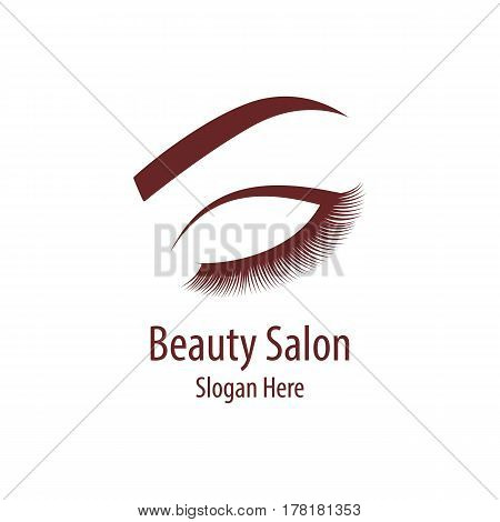 Beautiful woman logo template for beauty salon