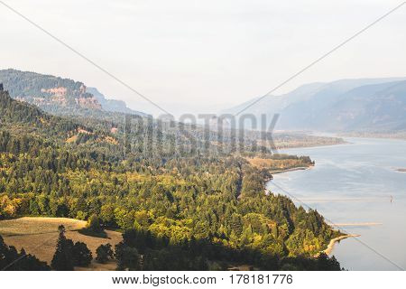 Beautiful Landscape At The Columbia River Gorge